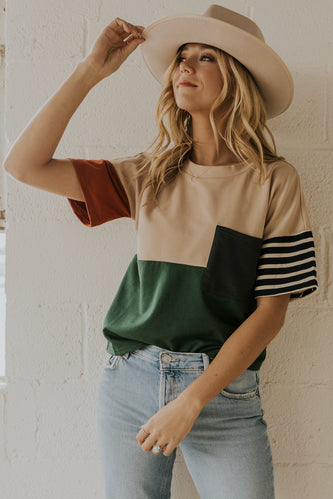Colorblock Oversize Top | ROOLEE