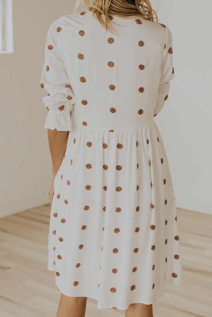 Neutral polka dot dresses | ROOLEE