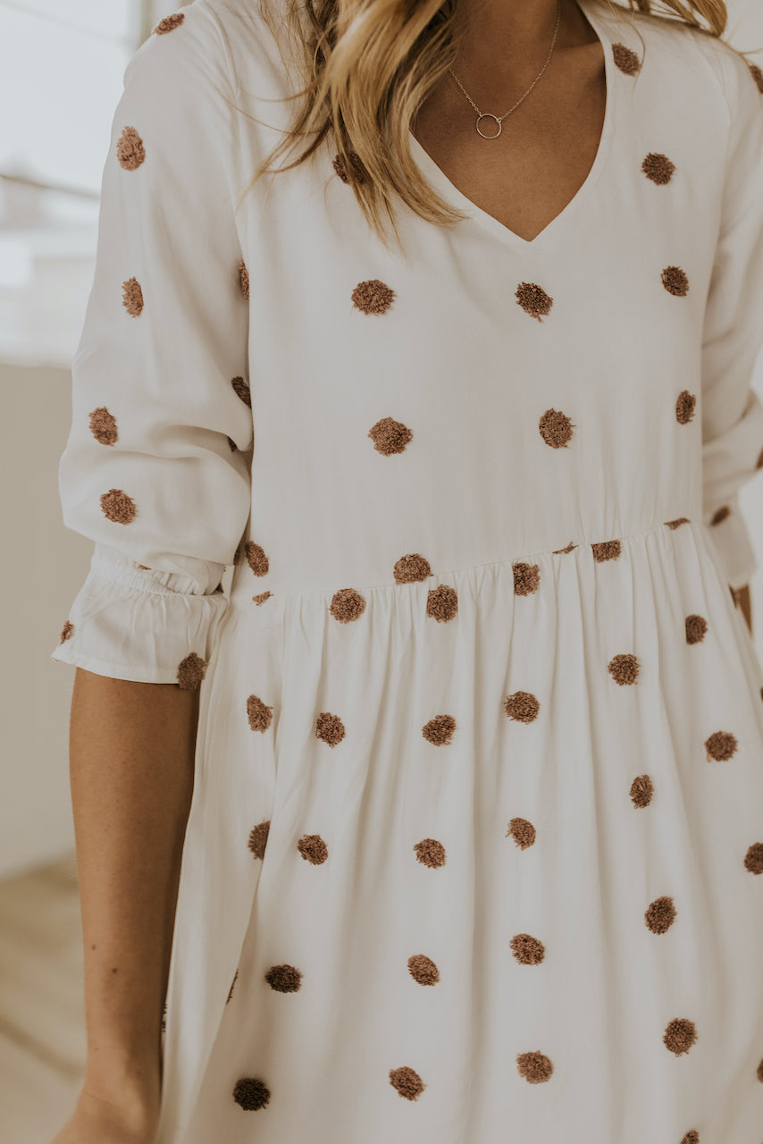 Textured polka dot spring dress | ROOLEE