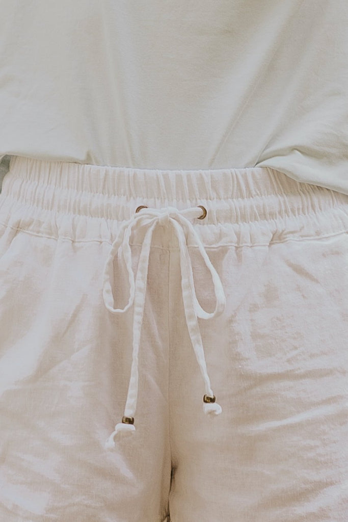 White Summer Shorts | ROOLEE