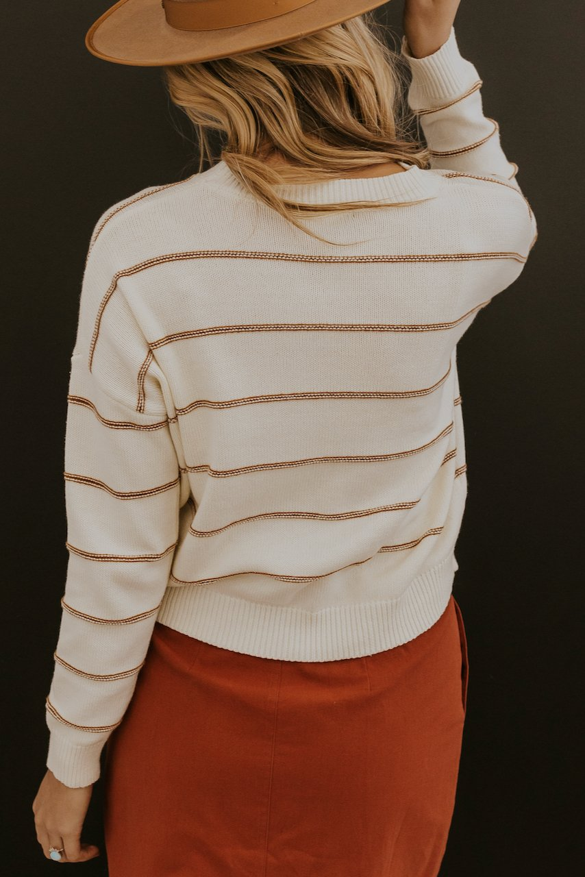Red stripe tops | ROOLEE