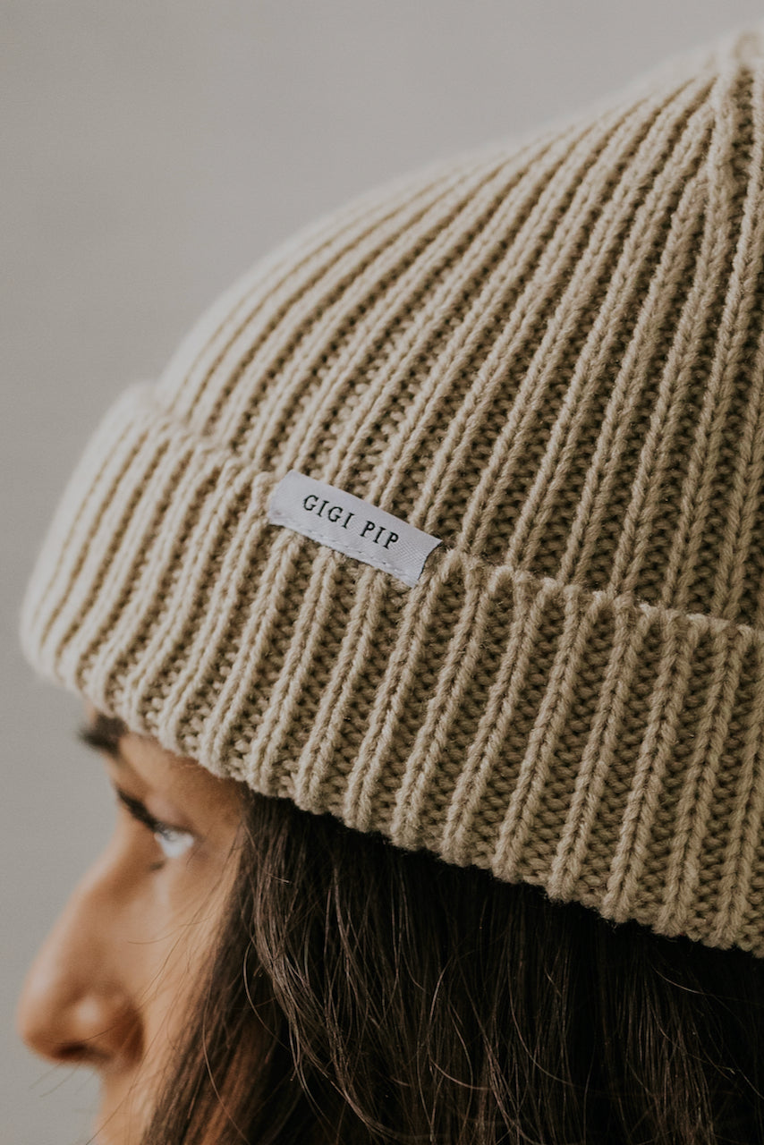 Tan thick kit beanies | ROOLEE