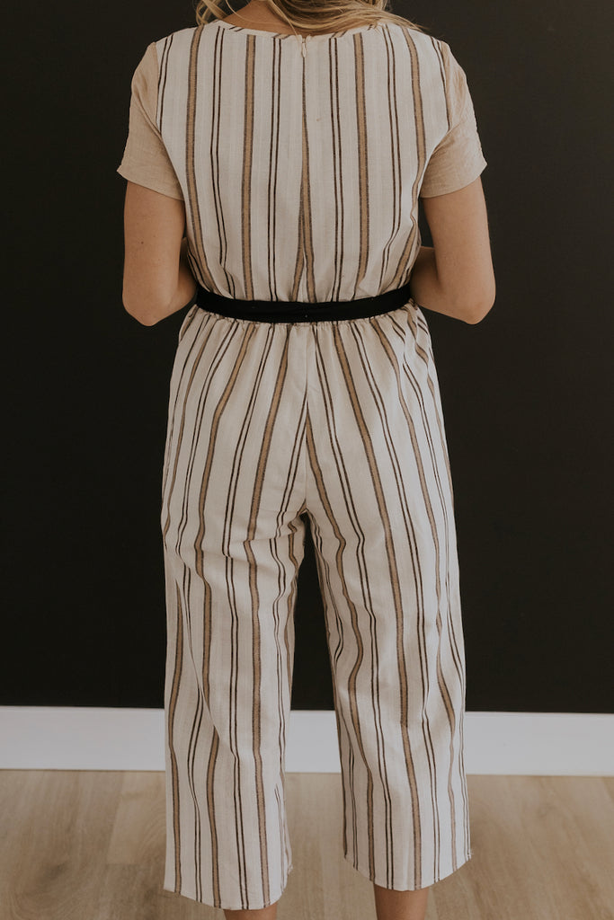 Stripe jumpsuits for women | ROOLEE