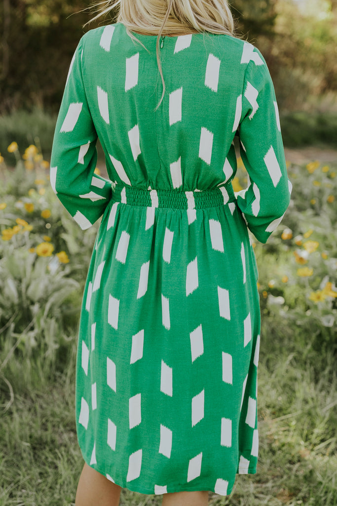 Cute Green Print Dresses | ROOLEE