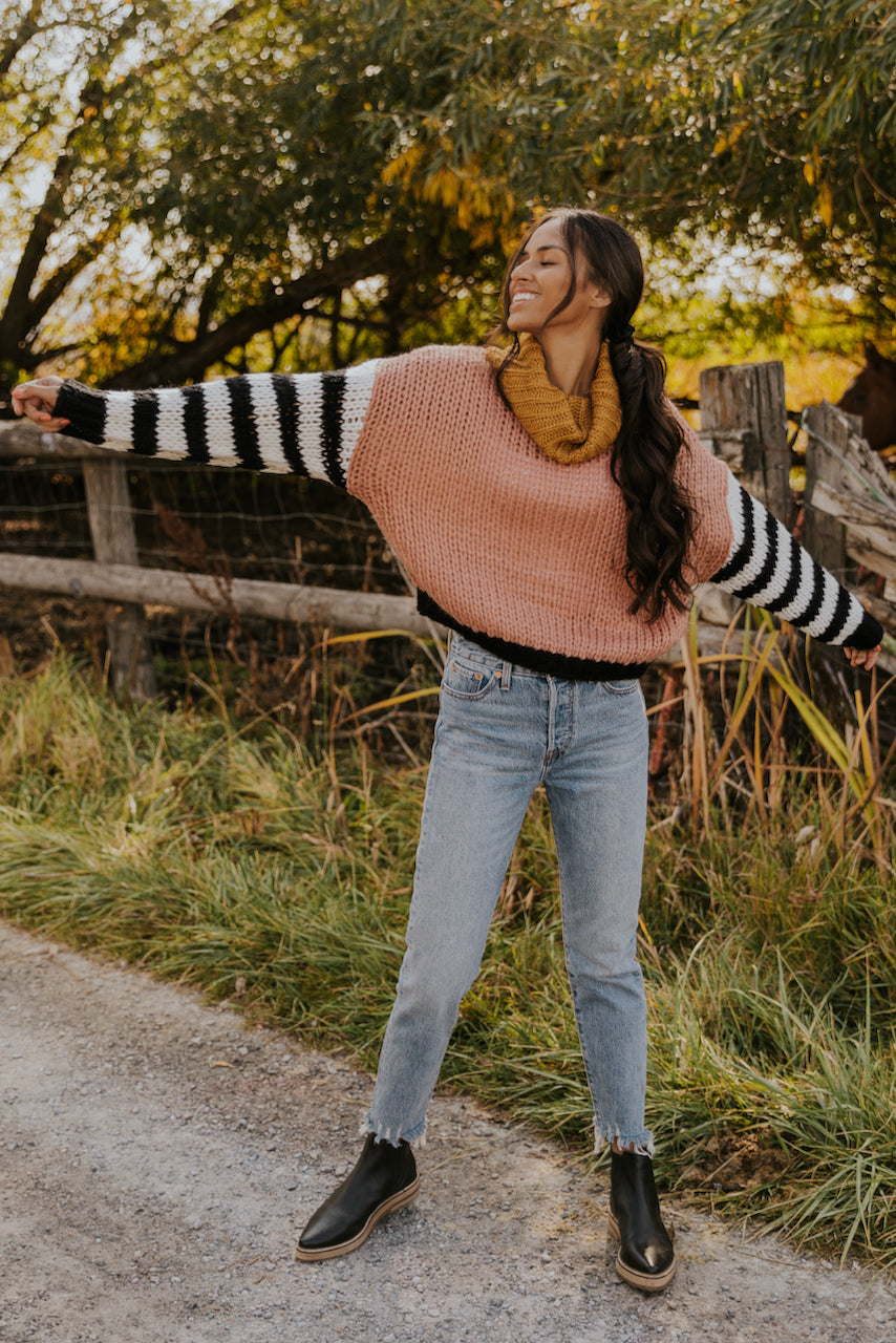 Stripe Trendy Chunky Sweater for Women | ROOLEE