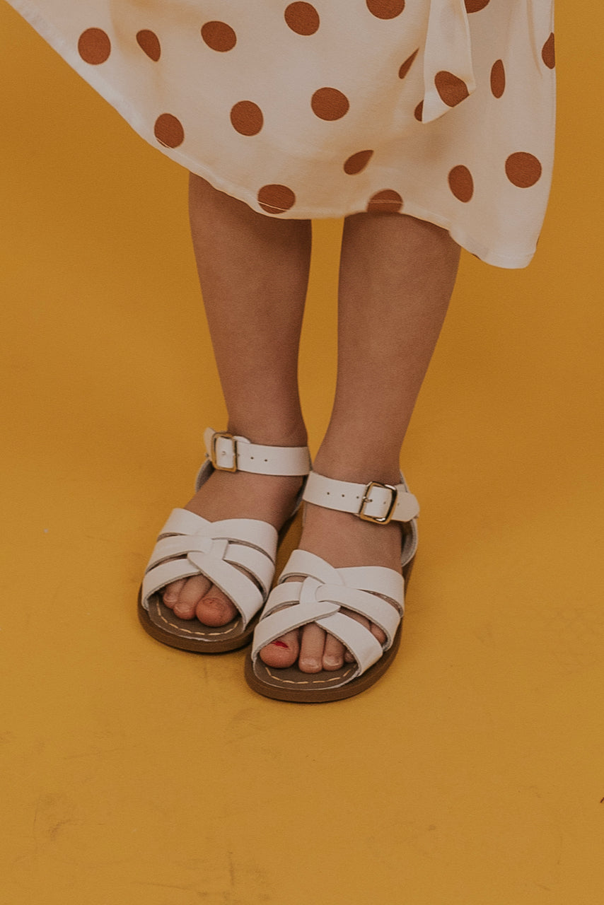 Kids Sandals In White | ROOLEE