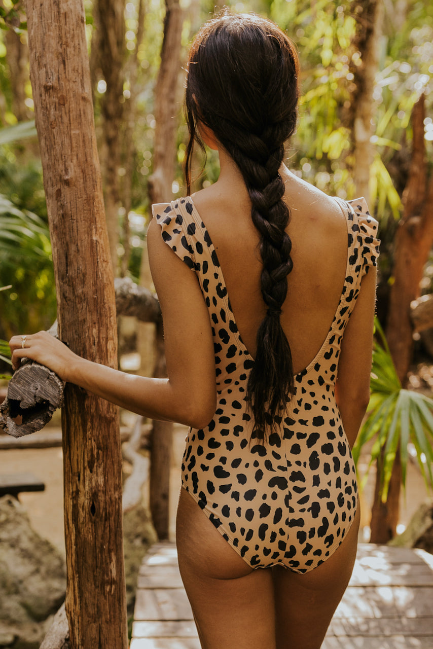Leopard trendy modest swimsuit | ROOLEE