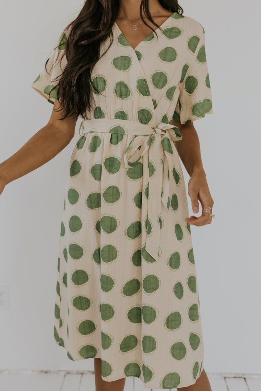 Green Polka Dot Dress | ROOLEE