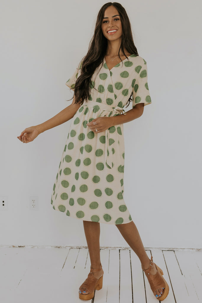 Calm Down Polka Dot Wrap Dress