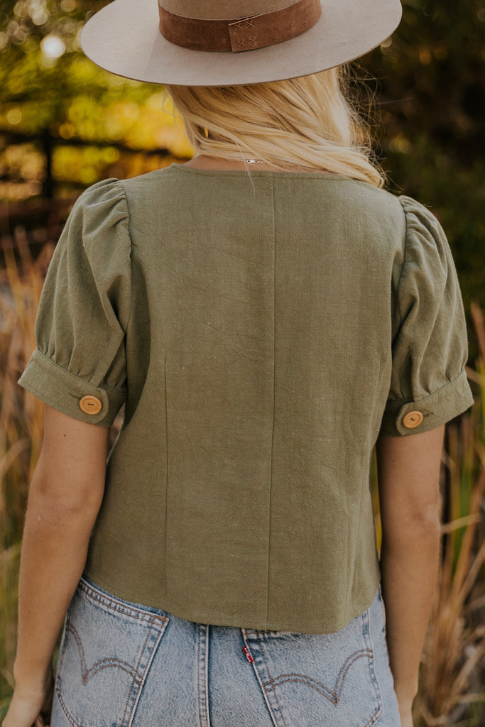 Button Front Blouse | ROOLEE