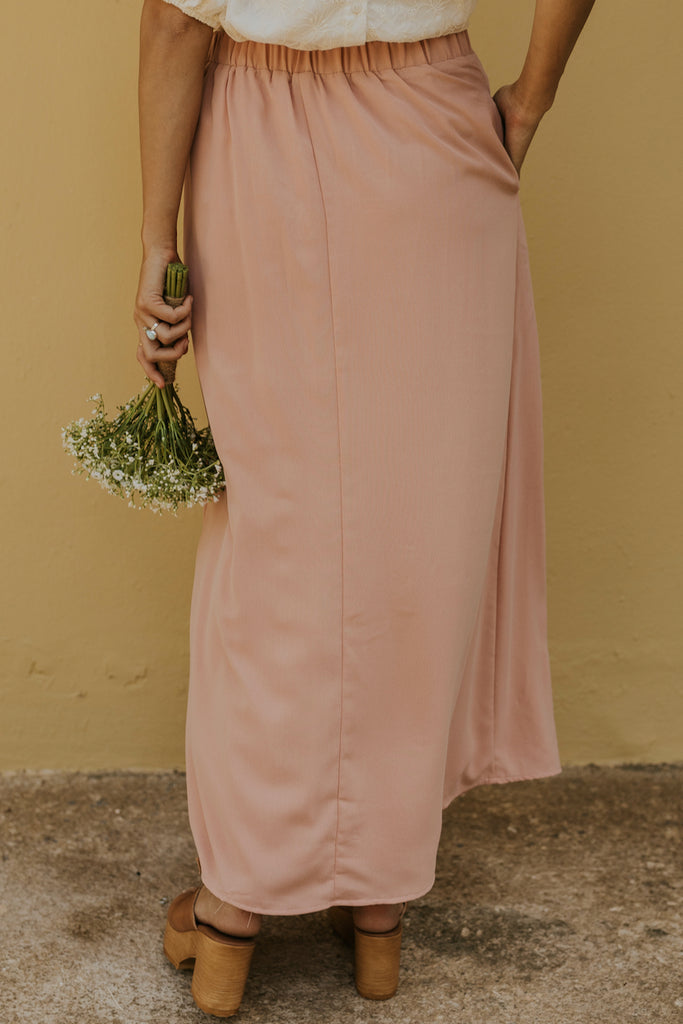 Palm Springs Solid Maxi Skirt