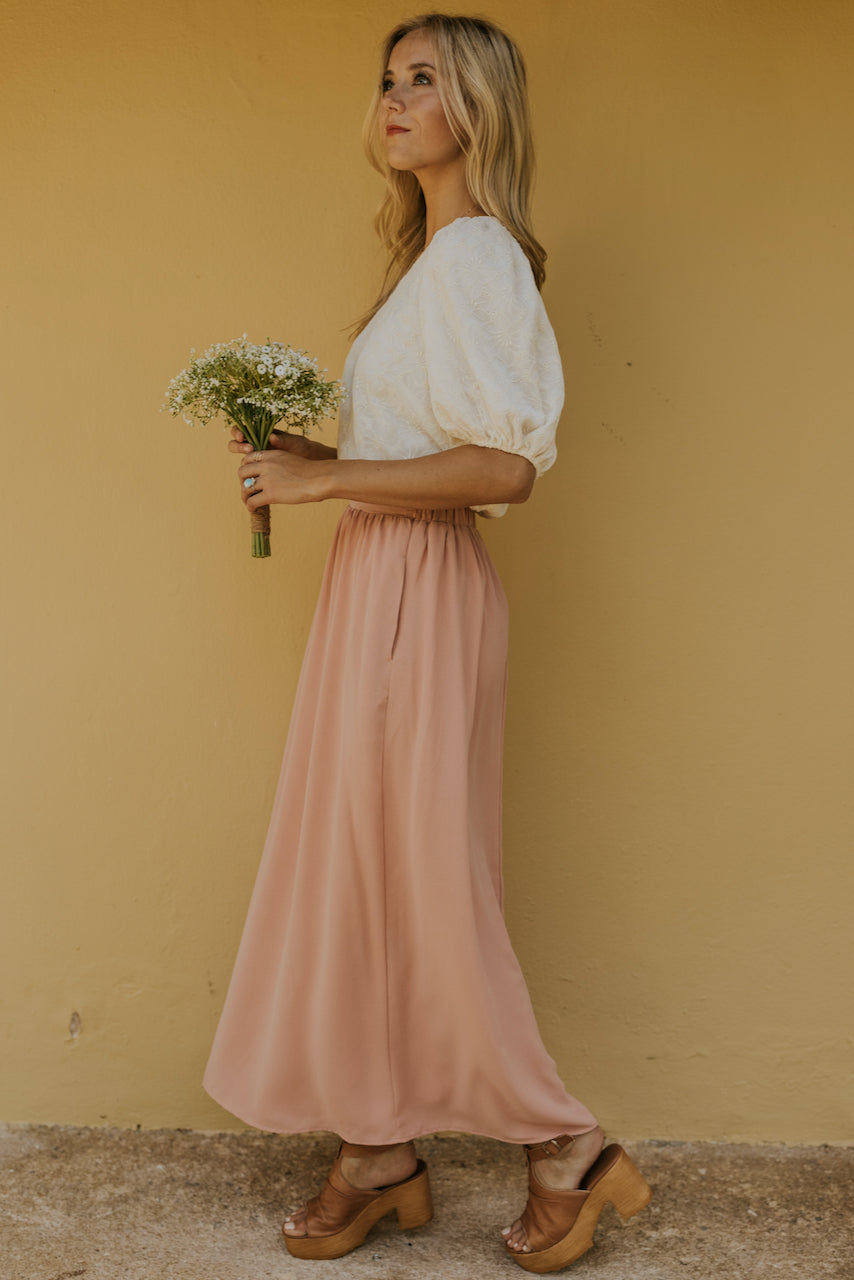 Maxi Skirt with pockets | ROOLEE