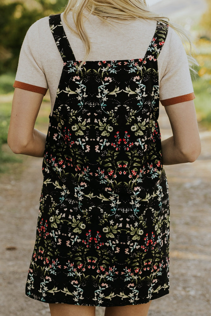 Floral Jumper Dress | ROOLEE