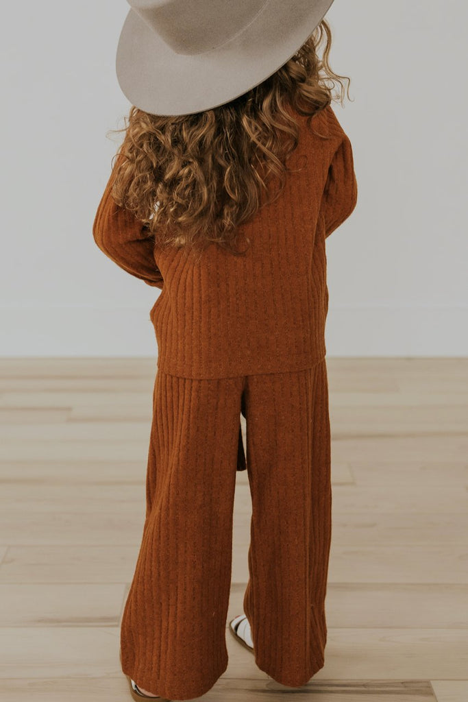 Elastic Long Girls Pants | ROOLEE