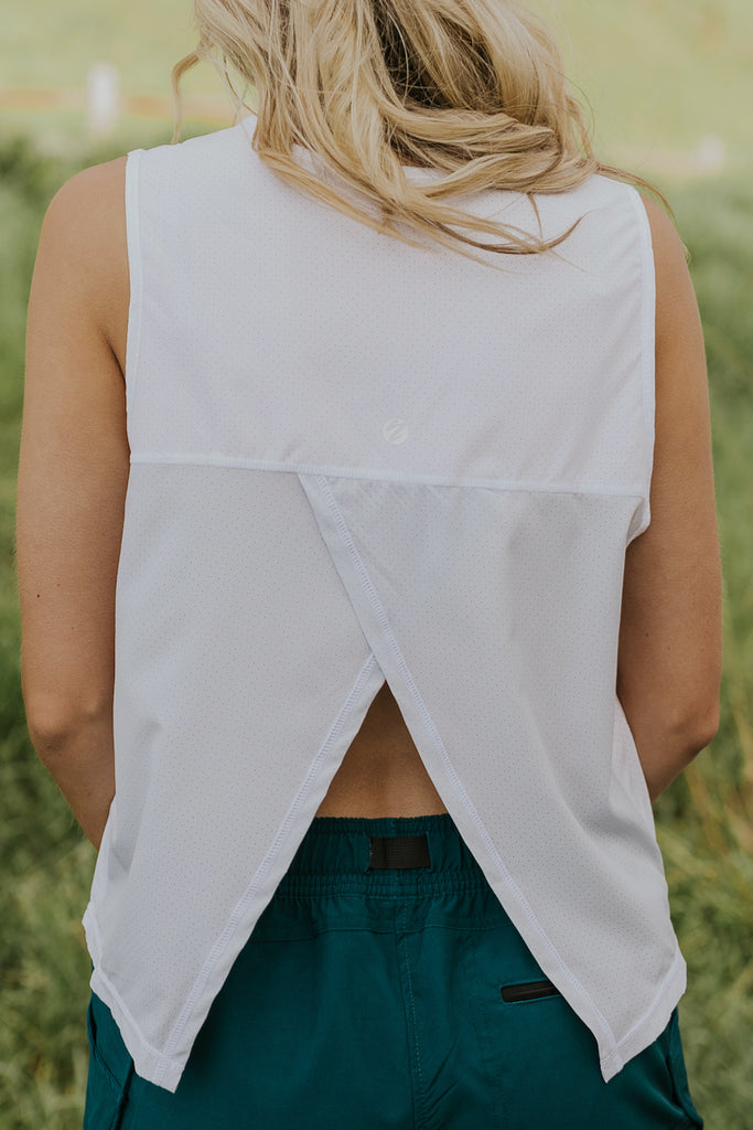 Split back tank top | ROOLEE