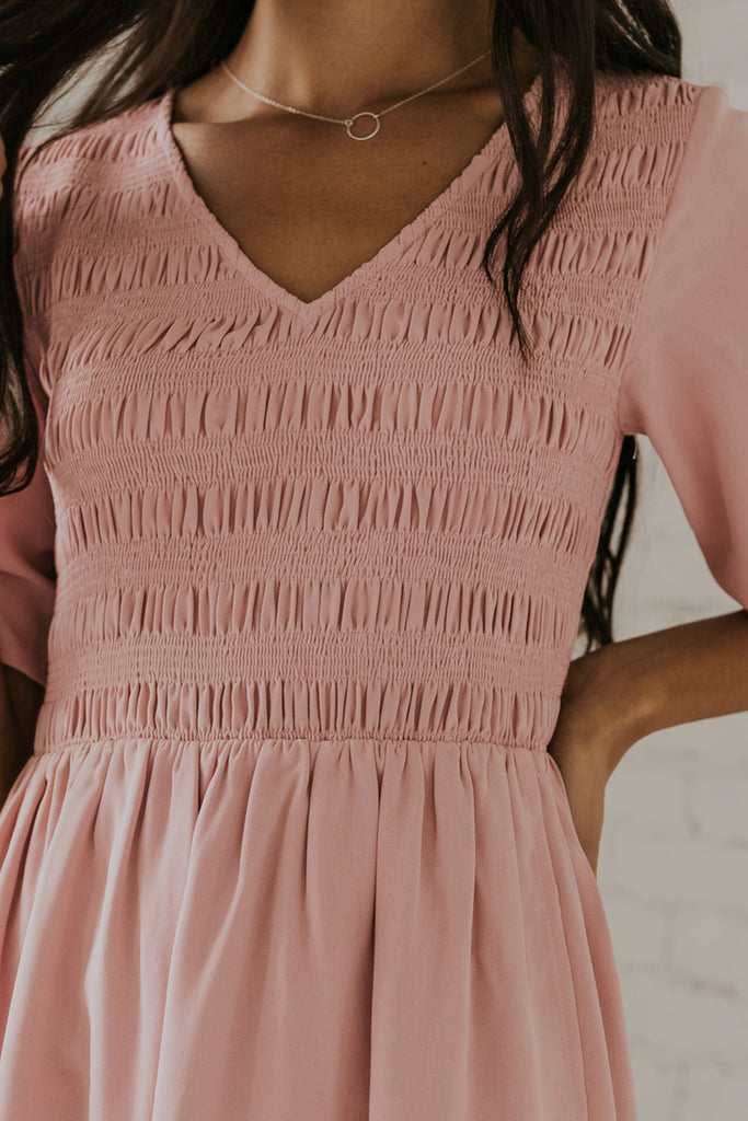 Smocked Bodice Bridesmaid Dresses | ROOLEE