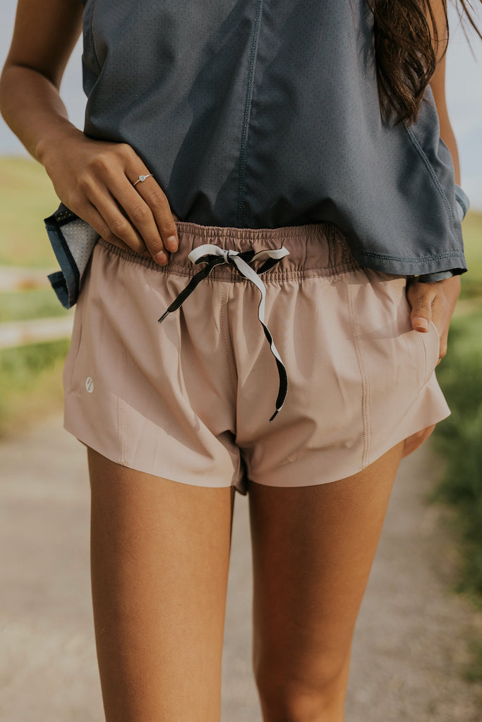Drawstring Blush Shorts | ROOLEE