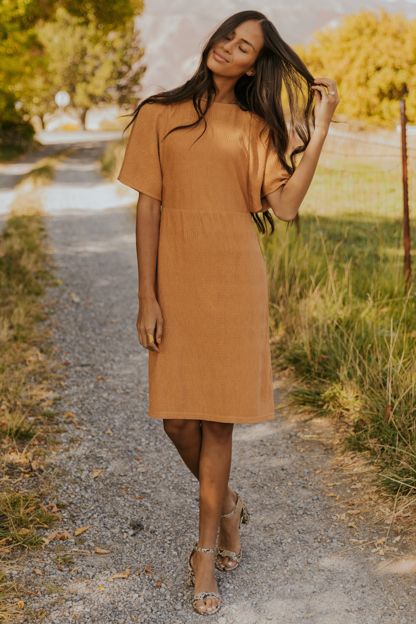 Orange fancy fall dress | ROOLEE