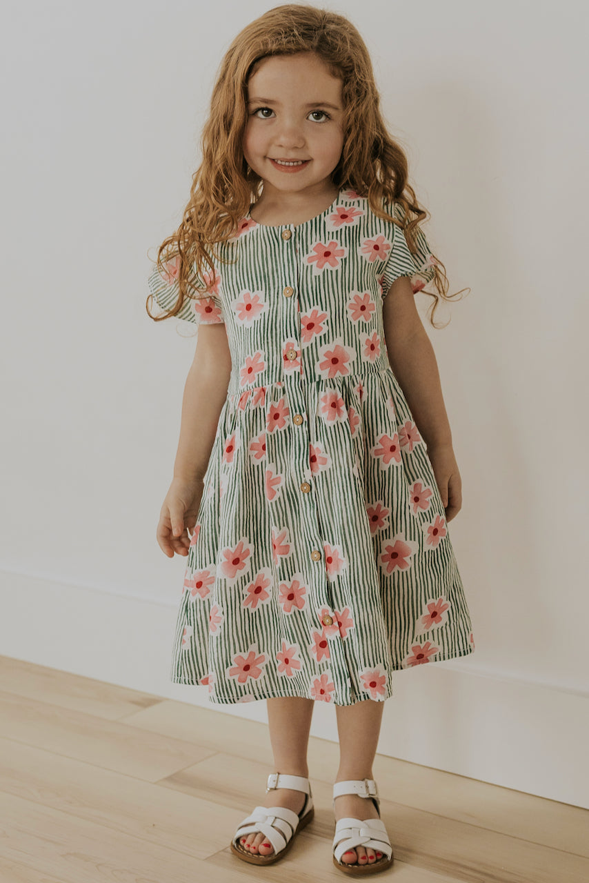 Striped Floral Dress | ROOLEE