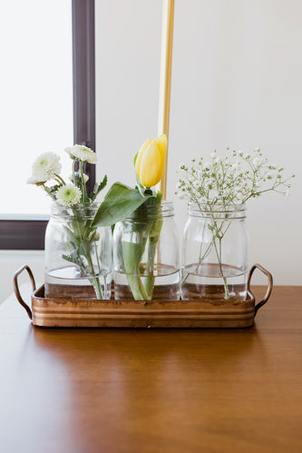 Tomasa Metal Tray with Jars