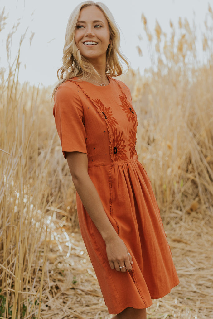 Rust colored dress | ROOLEE