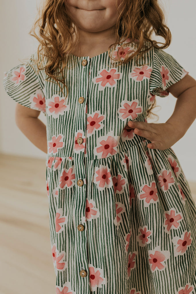Floral Kids Babydoll Dress | ROOLEE