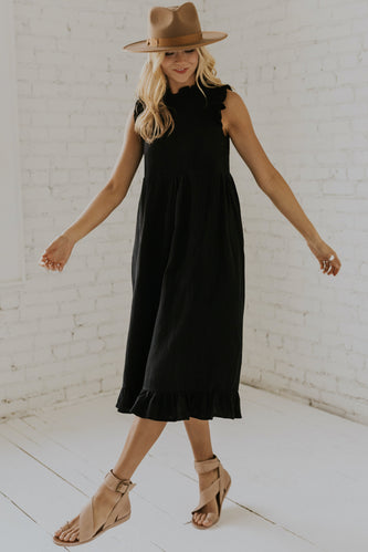 Empire waist gathered dress | ROOLEE