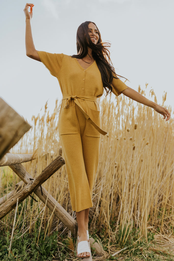 Cute Spring Yellow Jumpsuits | ROOLEE
