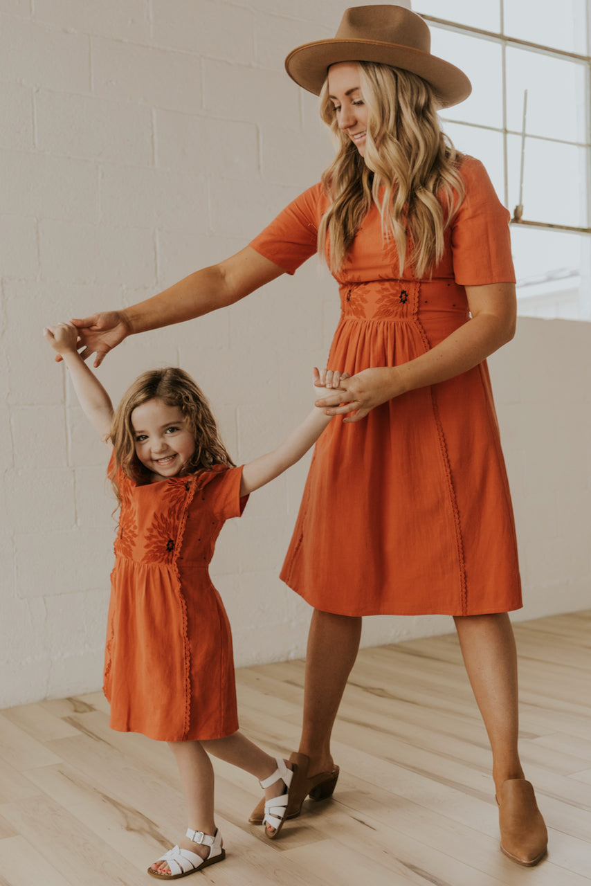 Mommy and Me Maddy Sunflower Dress | ROOLEE