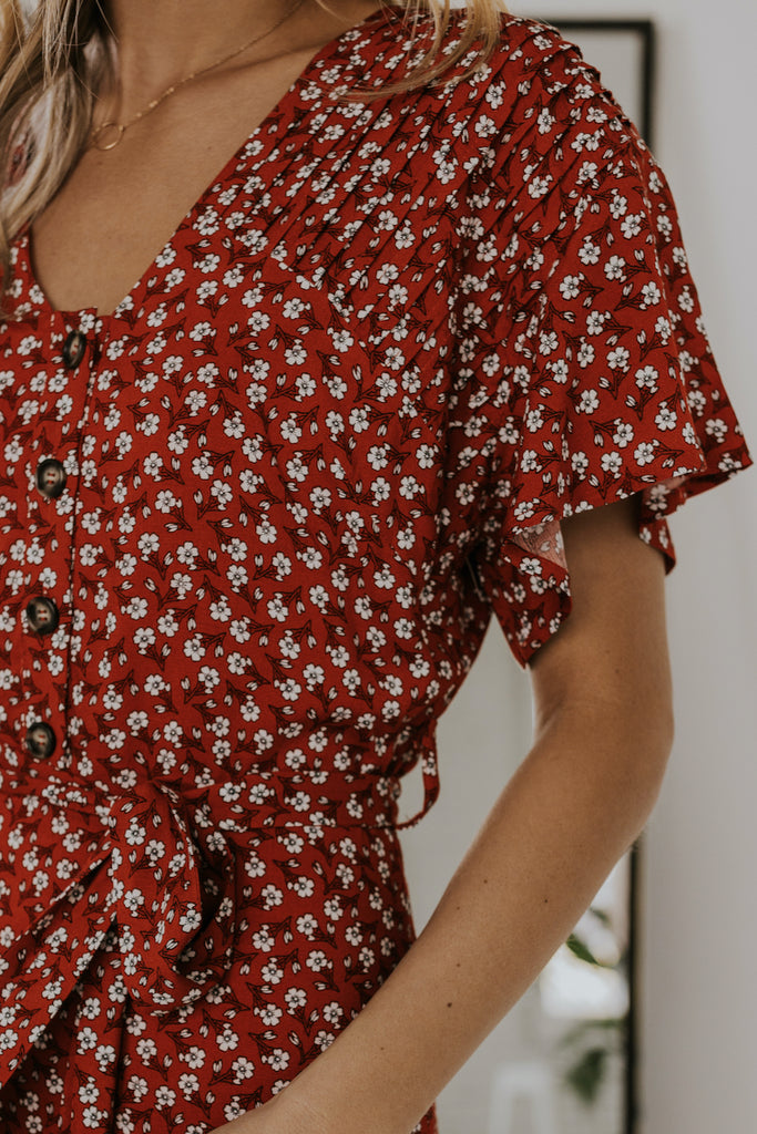 Red Floral Dress | ROOLEE