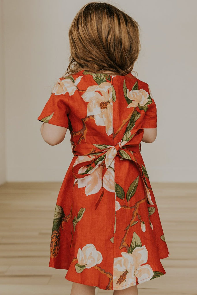 Red Floral Matching Dresses | ROOLEE