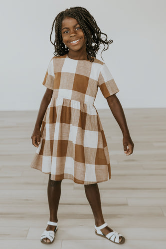 Checkered Girls Dress | ROOLEE