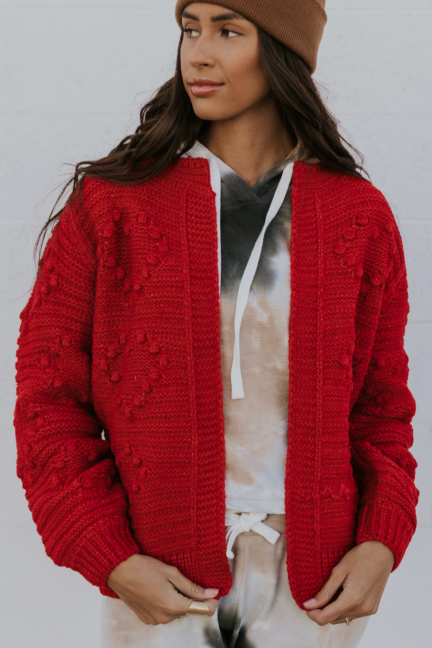 Red Christmas Cardigan | ROOLEE