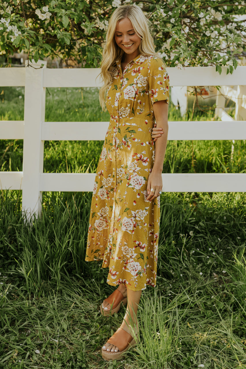 Golden Maxi Dress | ROOLEE