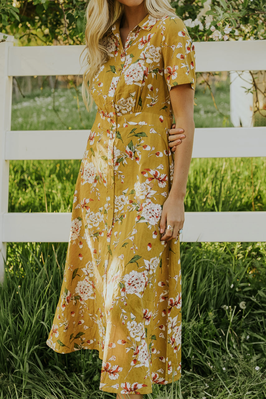 Floral Print Maxi Dress | ROOLEE