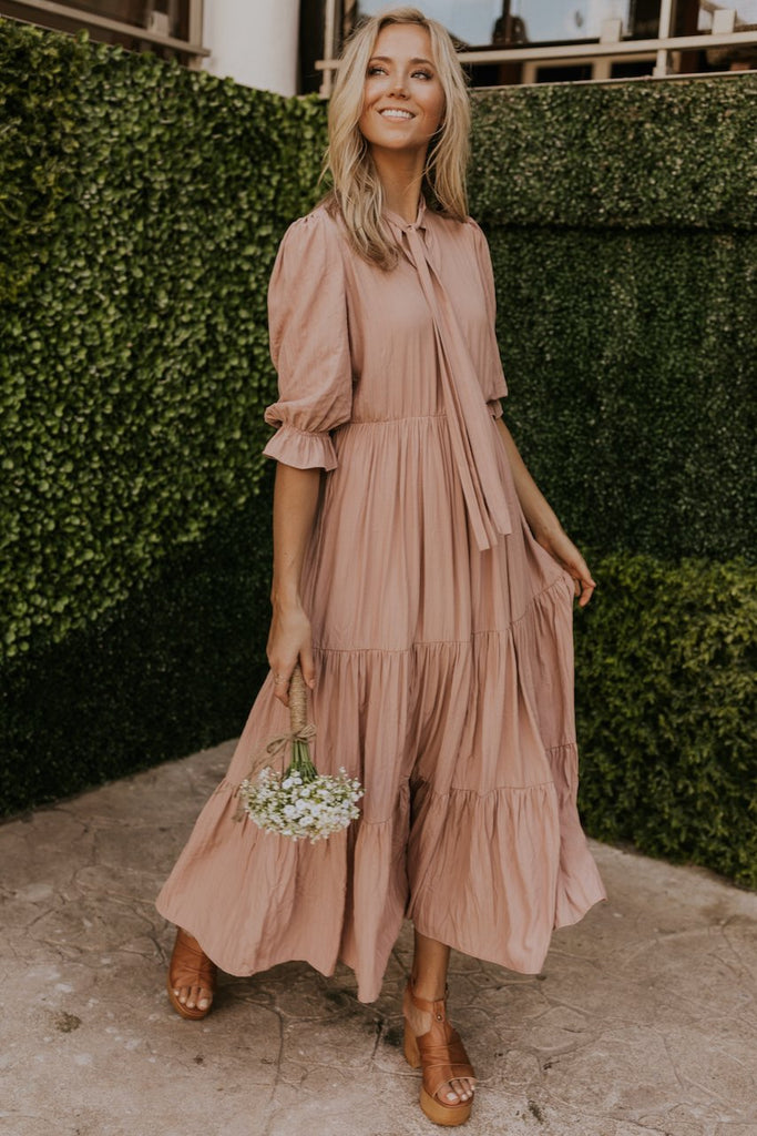 Blush flowing maxi dress | ROOLEE
