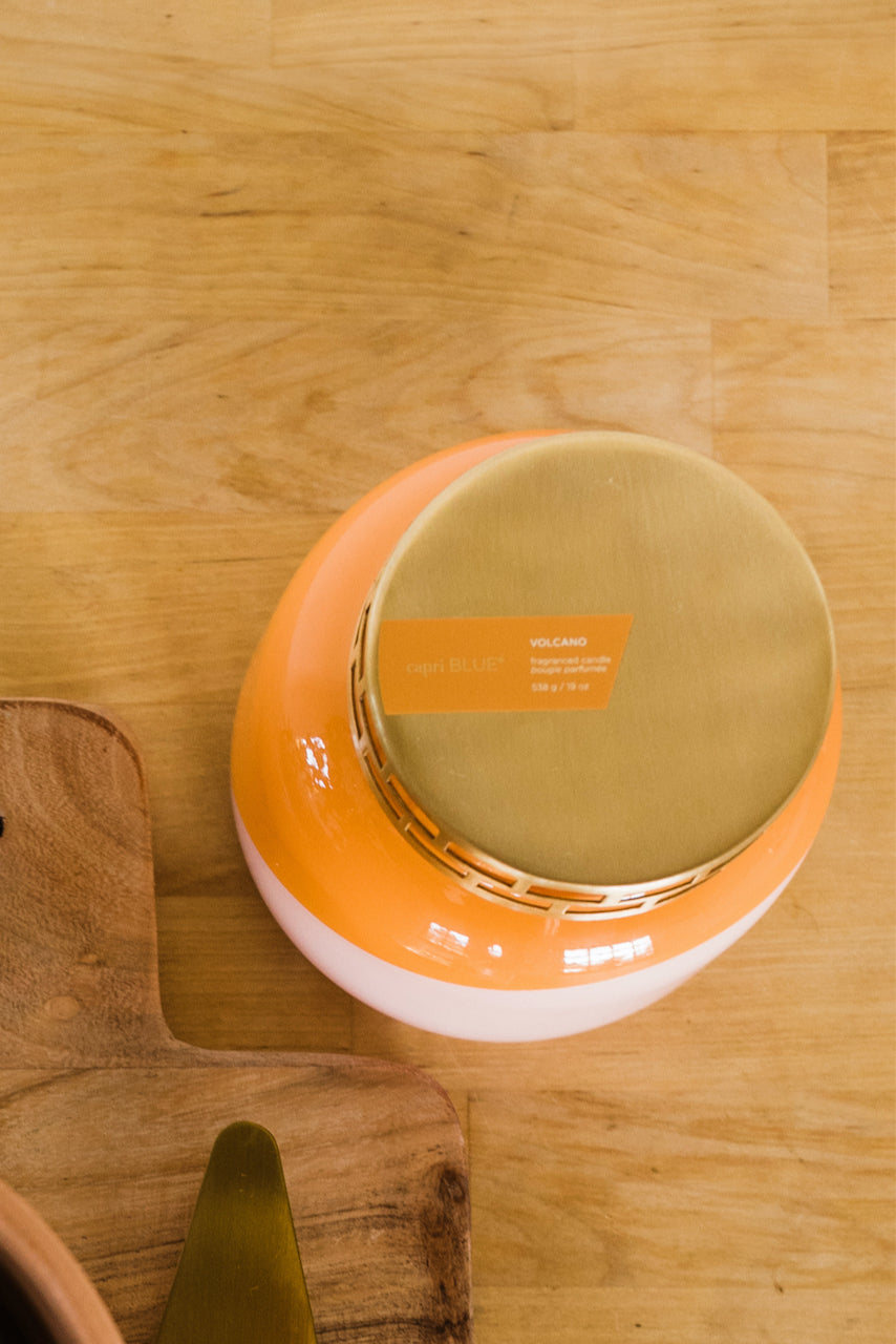 Orange and pink citrus candle | ROOLEE