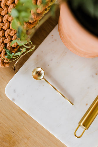 Gold metal spoon | ROOLEE