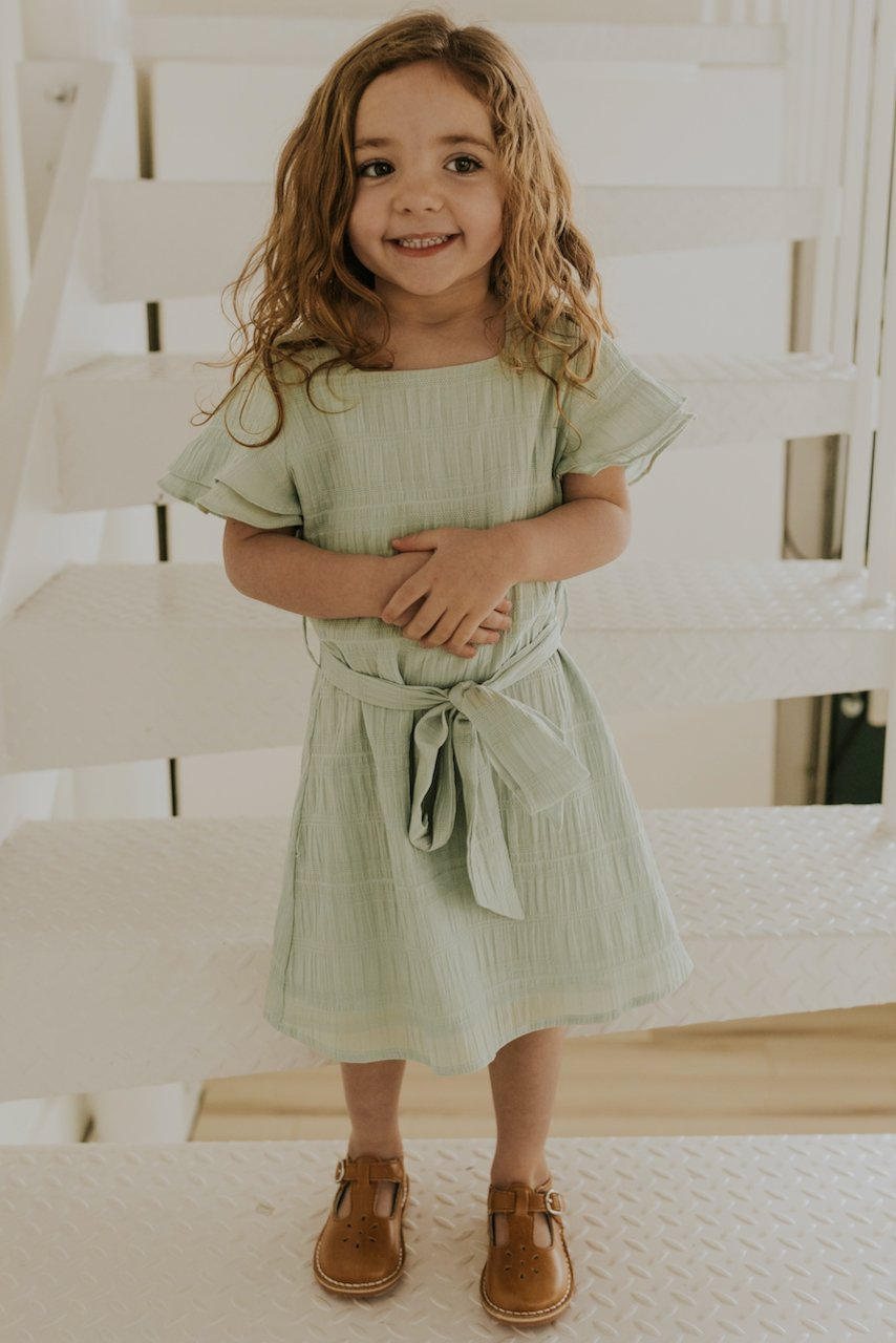 Kids Simple Blue Dresses | ROOLEE