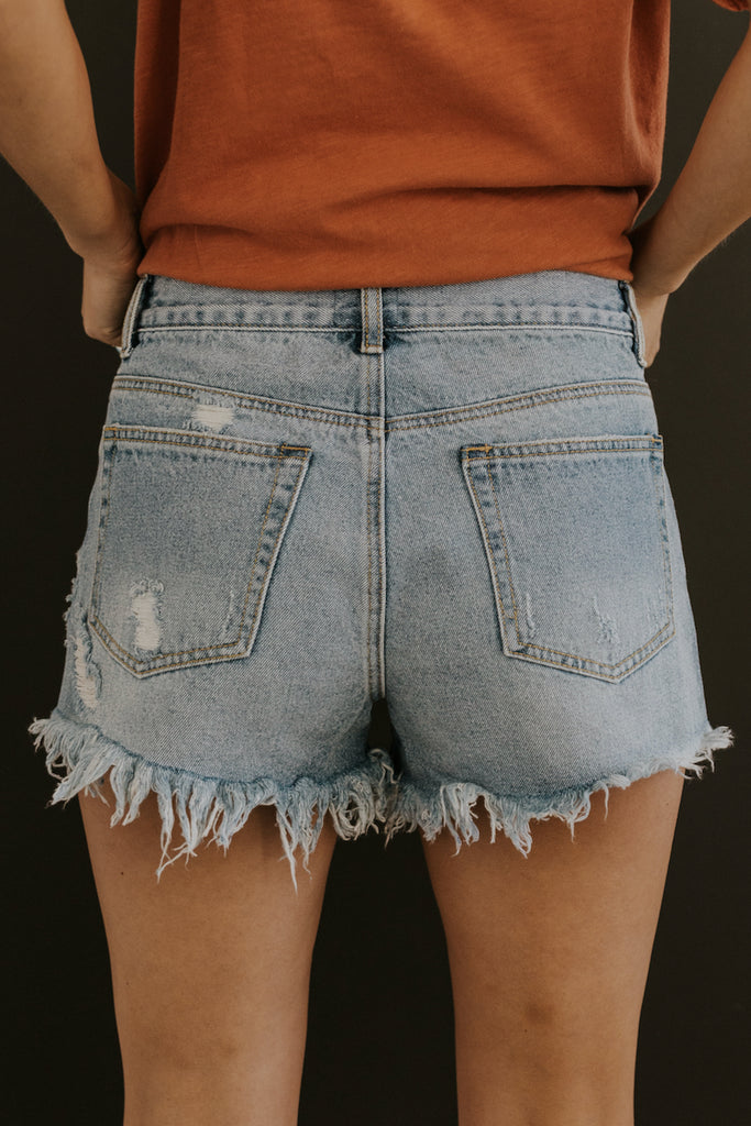 Raw Hem Denim Shorts | ROOLEE