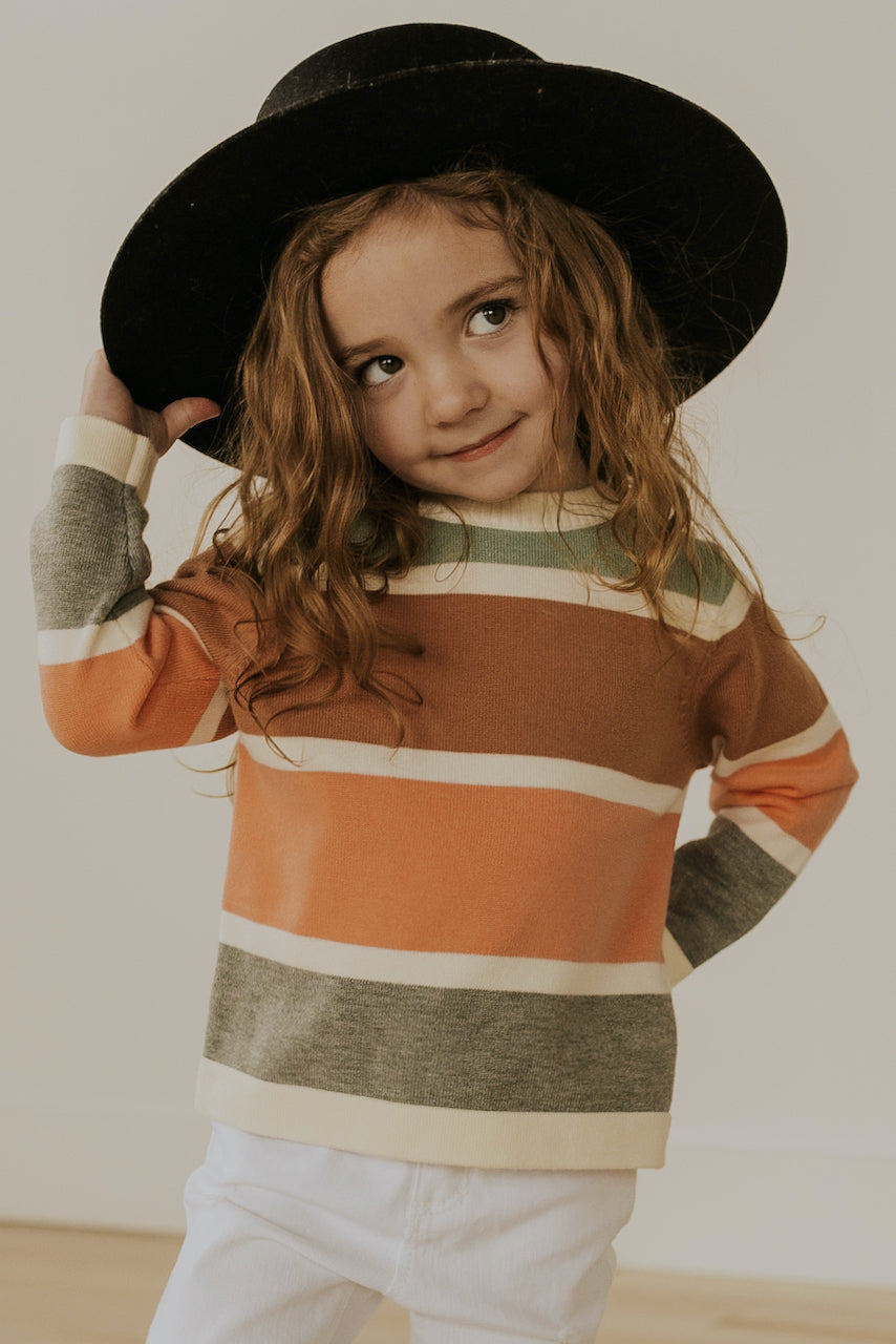 Striped Long Sleeve Sweaters for Girls | ROOLEE