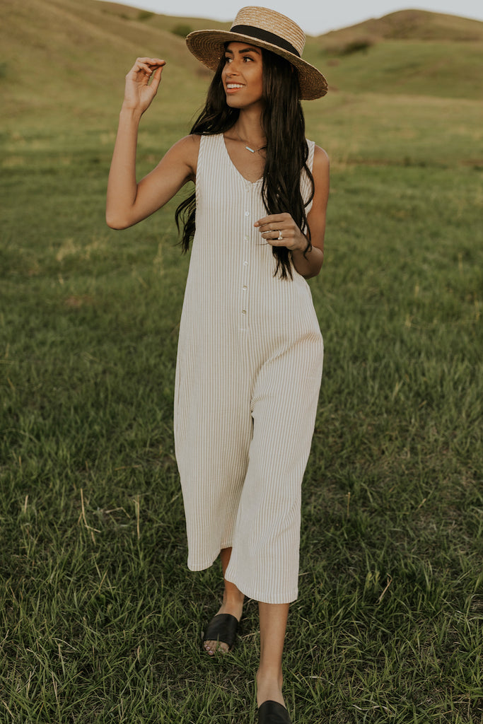 Striped jumpsuits for summer | ROOLEE