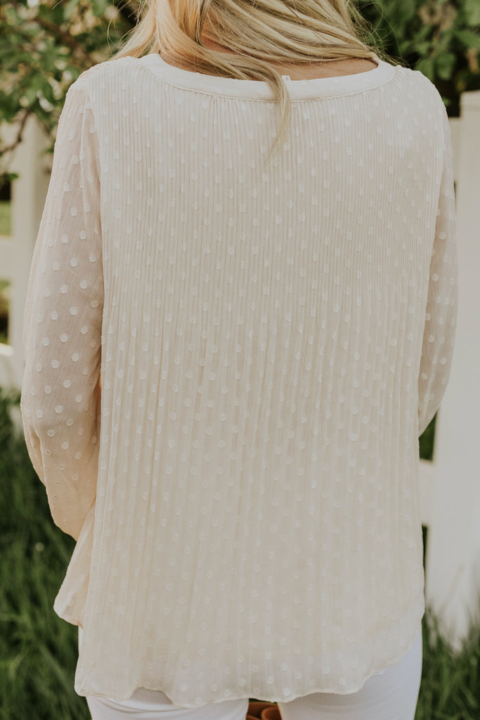 White Embroidered Blouse | ROOLEE