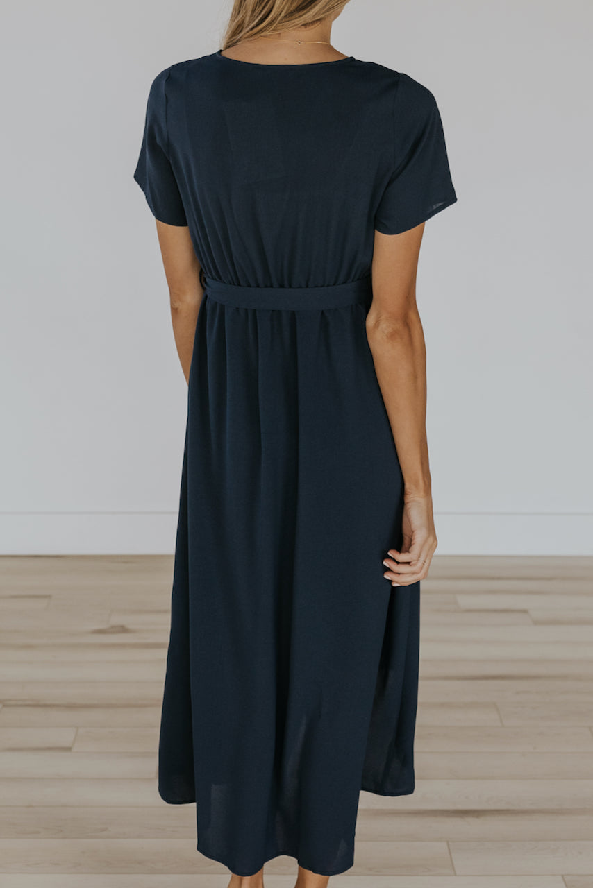 Flowing wrap front mom dress | ROOLEE