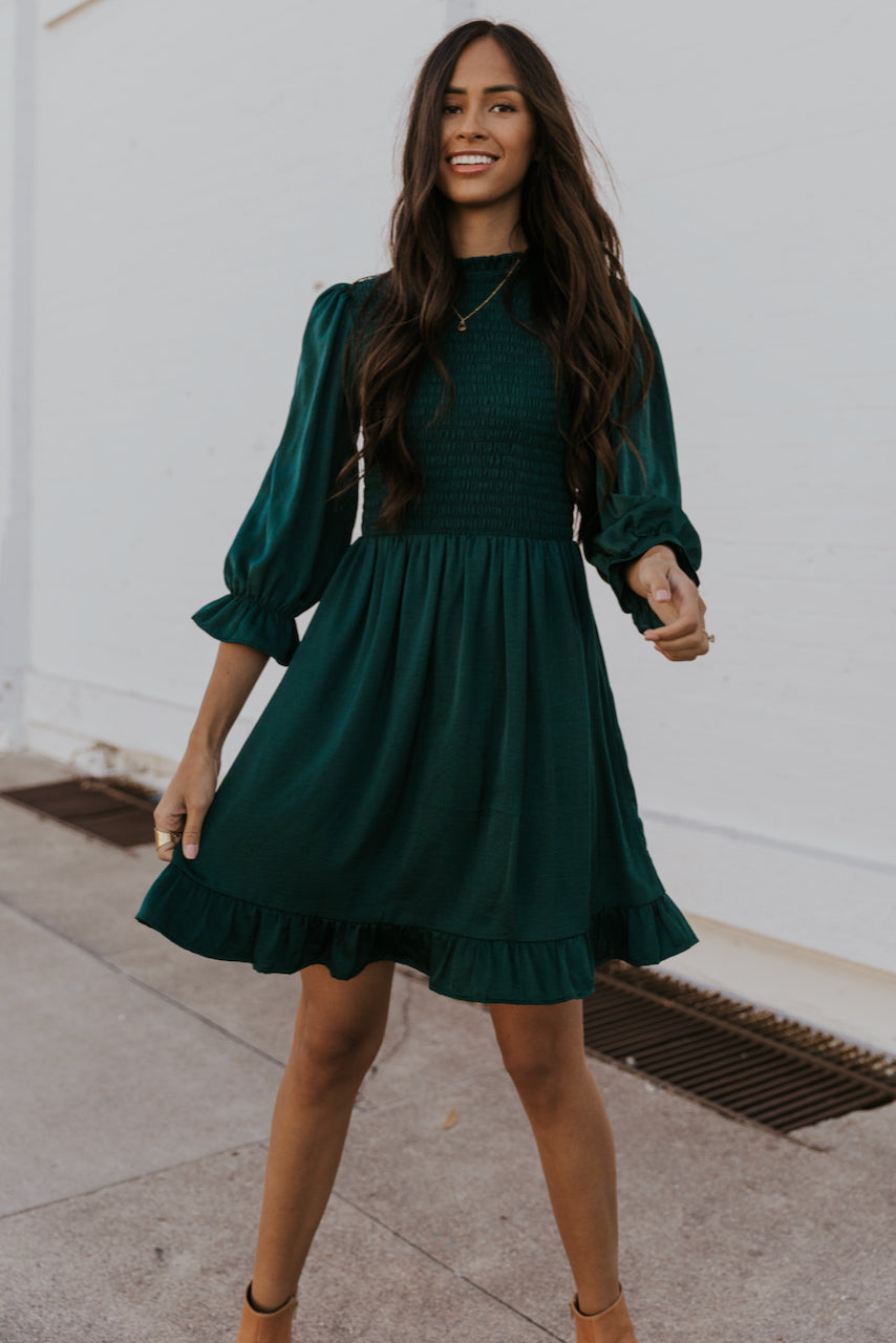 Green holidays dresses for winter | ROOLEE