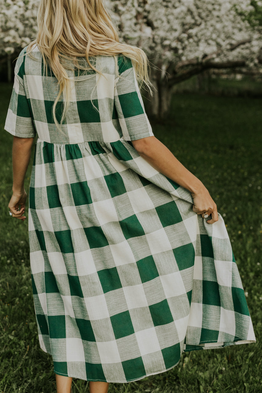 Cute Green and White Dresses | ROOLEE