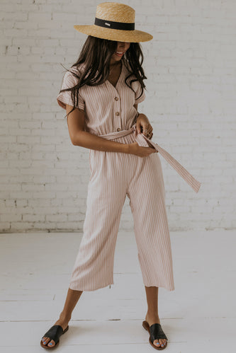 Rising Sun Striped Jumpsuit