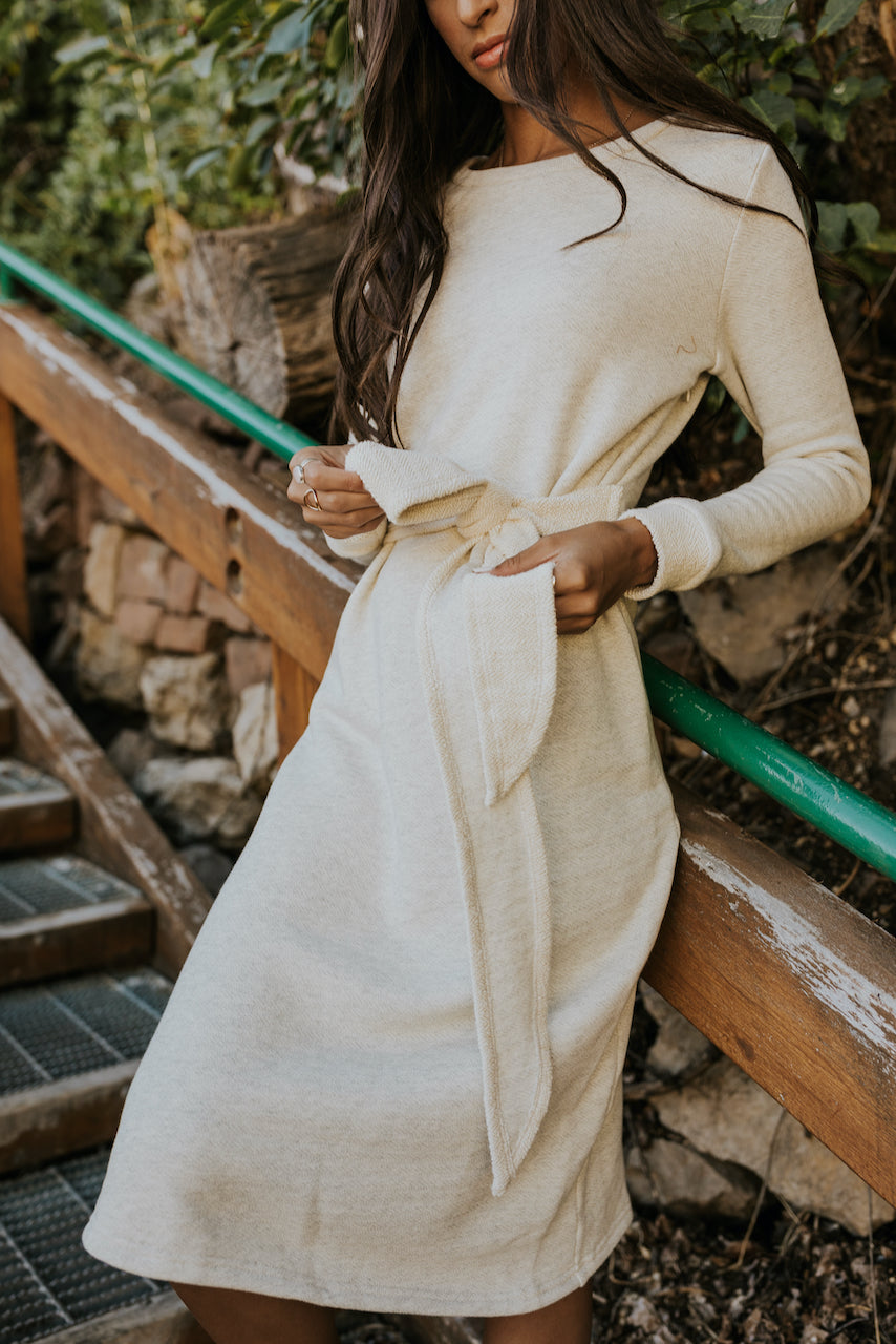 Nursing friendly winter dress | ROOLEE