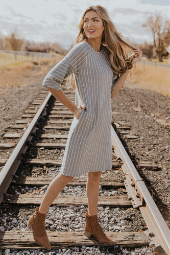 Little By Little Striped MOM Dress