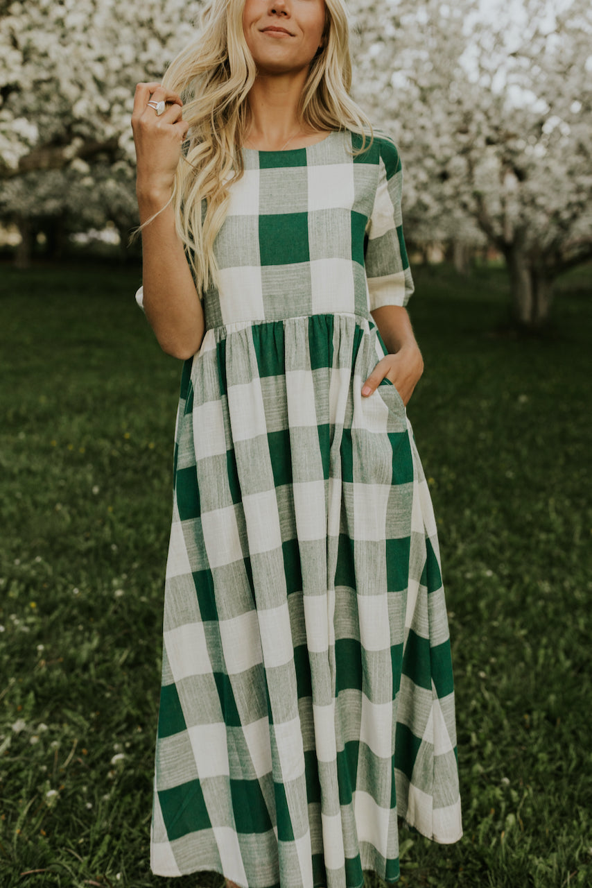 Green Plaid Dress | ROOLEE